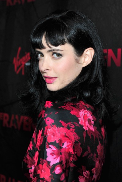 More Pics of Krysten Ritter Long Wavy Cut with Bangs (1 of 4) - Long Wavy Cut with Bangs Lookbook - StyleBistro