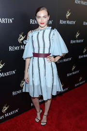 Madeline Brewer finished off her look with classic slim-strap sandals.