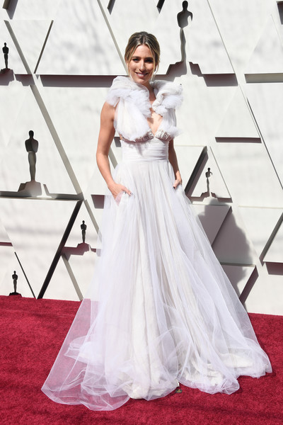 Renee Bargh Princess Gown [gown,dress,wedding dress,clothing,carpet,fashion model,red carpet,bridal clothing,bridal party dress,flooring,arrivals,renee bargh,academy awards,hollywood,highland,california,annual academy awards]