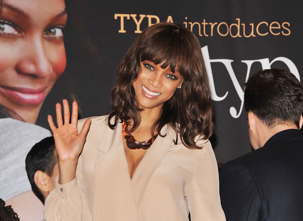 Tyra+Banks in Richard Rosenblatt And Tyra Banks Visit The NYSE
