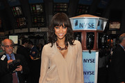 TV personality Tyra Banks visits the New York Stock Exchange on March 15, 2011 in New York City.
