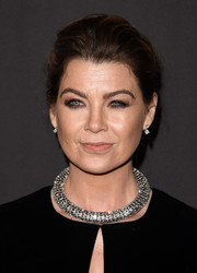 Ellen Pompeo brought major glitter to the Diamond Ball with this chunky Celine choker.