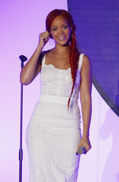 Rihanna Long Braided Hairstyle