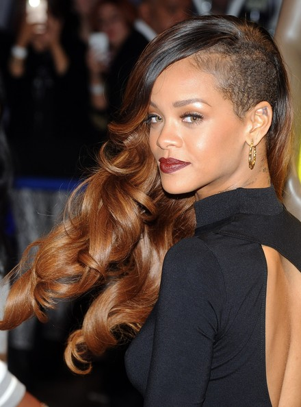Rihanna Long Curls