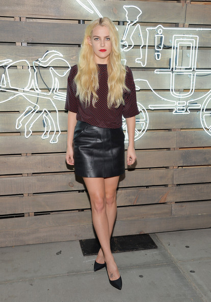 Riley Keough Mini Skirt