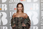 Rita Ora Strapless Dress