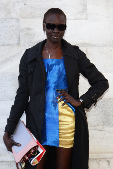 More Pics of Alek Wek Trenchcoat (1 of 6) - Alek Wek Lookbook - StyleBistro
