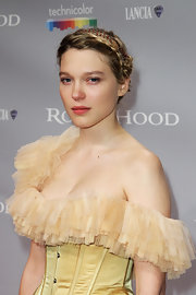 Actress Lea Seydoux showed off her on-trend braided bun while hitting the Cannes Film Festival.