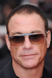 Jean walked the red carpet at the 'Robin Hood' premiere wearing square shades.