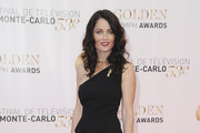 Robin Tunney One Shoulder Dress
