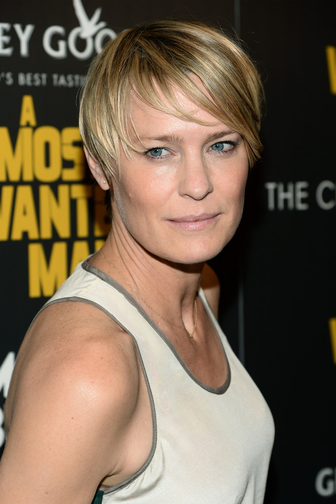 Robin Wright Short Cut With Bangs Robin Wright Short Hairstyles