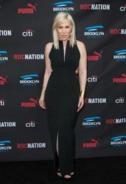 Natasha Bedingfield was sultry yet classy in a black gown with waist cutouts during the Roc Nation pre-Grammy brunch.