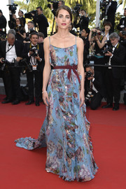Charlotte Casiraghi kept it ladylike in a Gucci floral gown during the 'Rocco and His Brothers' premiere in Cannes.