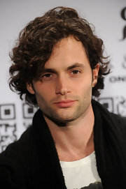 Penn Badgley let his short curls loose at the Rock & Republic for Kohl's Fashion Show.