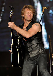 Bon Jovi has the superman logo tattooed on his left bicep.