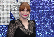 Bryce Dallas Howard sported an updo with eye-grazing bangs at the UK premiere of 'Rocketman.'