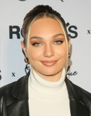 Maddie Ziegler styled her hair into a simple updo for the Rolla's x Sofia Richie launch.