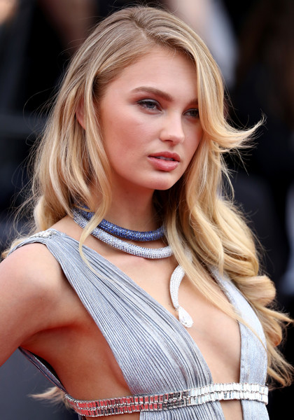 Romee Strijd Long Wavy Cut [hair,blond,face,hairstyle,fashion model,eyebrow,beauty,shoulder,long hair,lip,romee strijd,screening,everybody knows todos lo saben opening gala red carpet arrivals - the 71st annual cannes film festival,everybody knows todos lo saben and the opening gala during the 71st annual cannes film festival at palais des festivals on may 8,france,cannes]