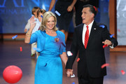 Republican presidential candidate, former Massachusetts Gov. Mitt Romney and his wife, Ann Romney stand on stage as balloons drop after accepting the nomination during the final day of the Republican National Convention at the Tampa Bay Times Forum on August 30, 2012 in Tampa, Florida. Former Massachusetts Gov. Mitt Romney was nominated as the Republican presidential candidate during the RNC which will conclude today.