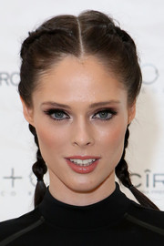 Coco Rocha channeled her inner schoolgirl with these double French braids for the RonRobinson x CO+CO launch party.