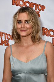Taylor Schilling rocked a messy lob at the premiere of 'Family at the Well.'