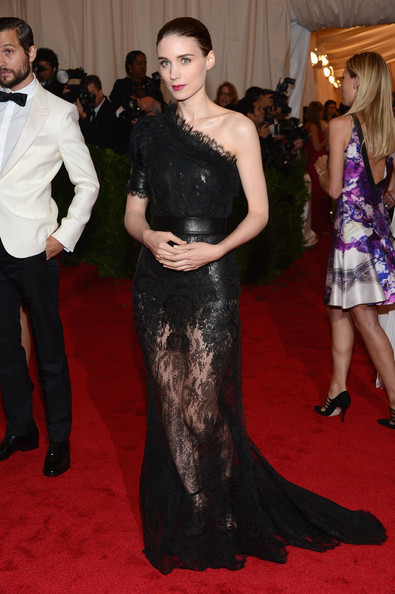 Rooney Mara One Shoulder Dress