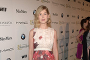Rosamund Pike Print Dress