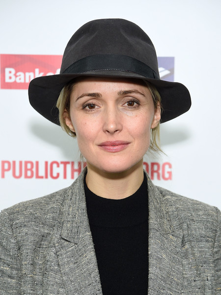 Rose Byrne Fedora [mother of the maid,clothing,hat,fedora,fashion accessory,headgear,sun hat,neck,cap,bowler hat,cloche hat,rose byrne,new york city,the public theater,opening night celebration]