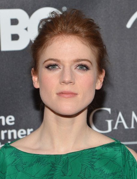 Rose Leslie Bobby Pinned Updo