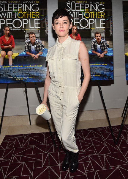 Rose McGowan Combat Boots [tastemaker screening of ifc films,clothing,carpet,red carpet,fashion,premiere,fashion design,flooring,dress,costume,event,rose mcgowan,sleeping with other people,screening,california,los angeles,tastemaker,ifc films]