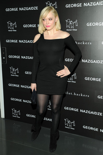Rose McGowan Little Black Dress