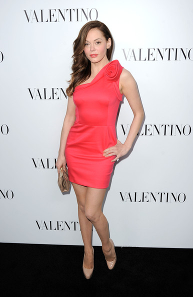 Rose McGowan One Shoulder Dress