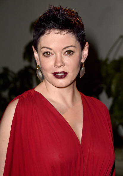 Rose McGowan Fauxhawk [hair,face,hairstyle,lip,beauty,eyebrow,shoulder,chin,fashion,forehead,rose mcgowan,dom perignon,w magazine celebrates the best performances portfolio,best performances portfolio,chateau marmont,california,los angeles,golden globes with cadillac,w magazine,celebration]