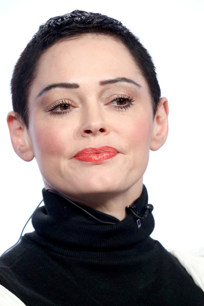Rose McGowan Pixie [face,lip,eyebrow,chin,cheek,neck,head,nose,beauty,skin,artist,activist,rose mcgowan,portion,citizen rose,pasadena,winter tca,executive producer,e,nbcuniversal]