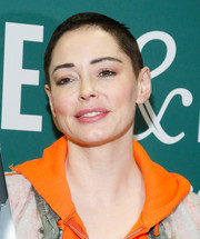 Rose McGowan attended her book signing rocking her signature buzzcut.
