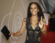 Barbara Becker went all black even with her choice of clutch at the Rosenball.