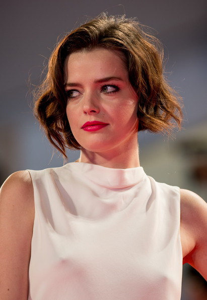 Roxane Mesquida Short Wavy Cut [spring breakers,hair,face,lip,fashion model,hairstyle,beauty,fashion,blond,skin,chin,roxane mesquida,venice,italy,palazzo del cinema,the 69th venice film festival,premiere]