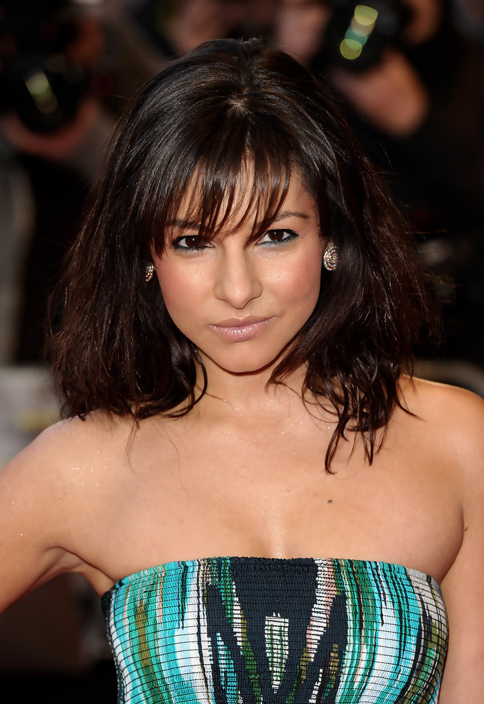 Roxanne Pallett Medium Straight Cut With Bangs Medium