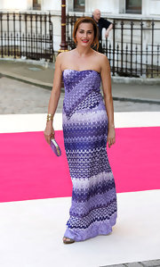 Yasmin Le Bon wore a vivid purple print made famous by Missoni to the Royal Academy Summer Exhibition.