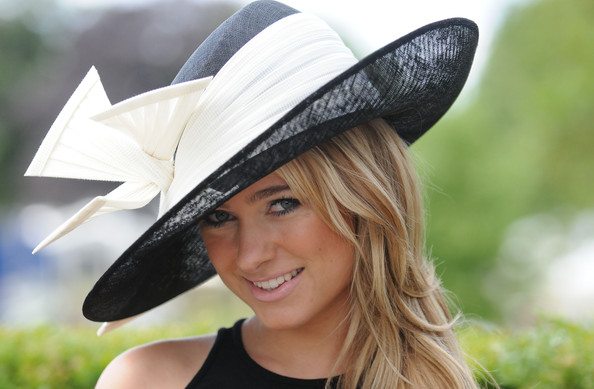 More Pics of Kimberly Garner Decorative Hat (1 of 8) - Dress Hats Lookbook - StyleBistro [clothing,hat,sun hat,fashion accessory,blond,costume hat,headgear,costume accessory,photography,fedora,ascot,ascot racecourse,england,kimberly garner]