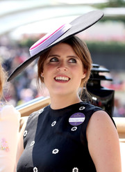 Princess Eugenie headed to Royal Ascot 2017 rocking a flat, wide-brimmed hat.