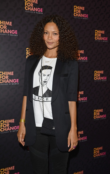 More Pics of Thandie Newton Medium Curls (1 of 7) - Medium Curls Lookbook - StyleBistro
