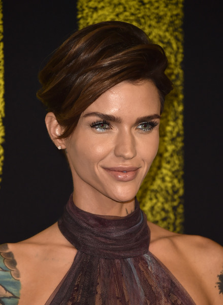 Ruby Rose Short Side Part [pitch perfect 3,hair,face,hairstyle,eyebrow,chin,beauty,lip,forehead,neck,brown hair,arrivals,ruby rose,california,hollywood,dolby theatre,universal pictures,premiere,premiere]