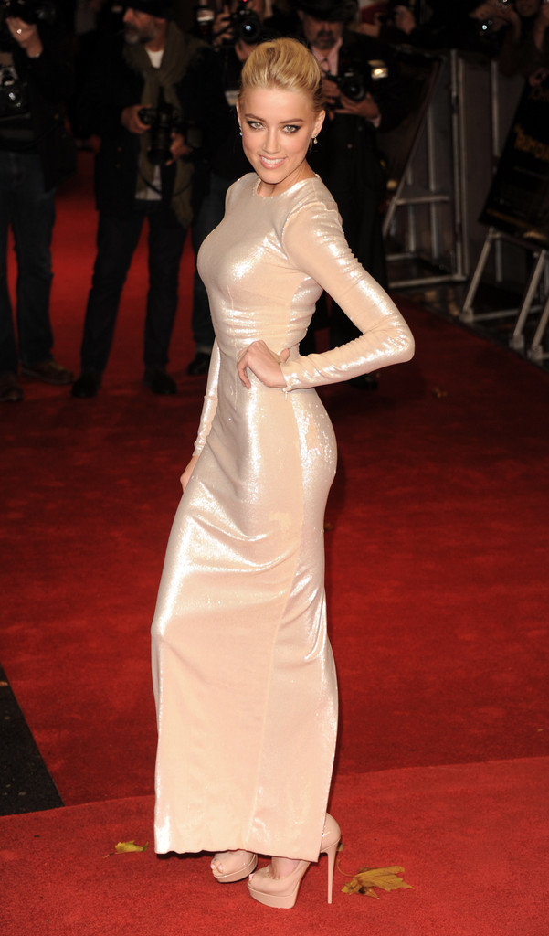 Amber Heard attends The UK Premiere of 'The Rum Diary' at  on November 3, 2011 in London, England.