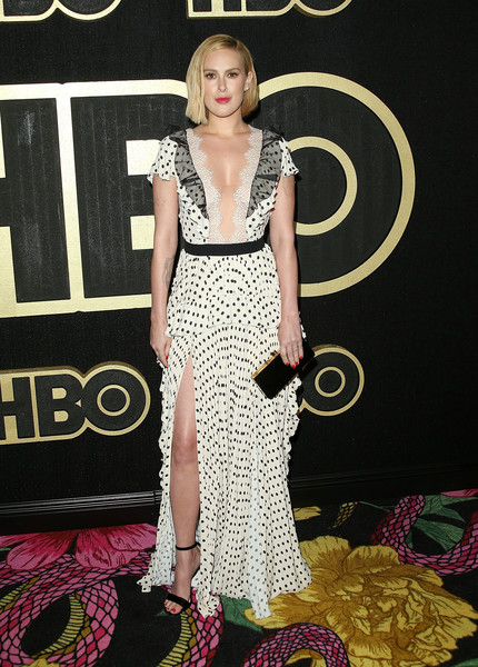 Rumer Willis Print Dress [clothing,red carpet,fashion model,dress,carpet,flooring,fashion,premiere,hairstyle,shoulder,arrivals,rumer willis,post emmy awards,the plaza,los angeles,california,pacific design center,hbo,reception,post emmy awards reception]