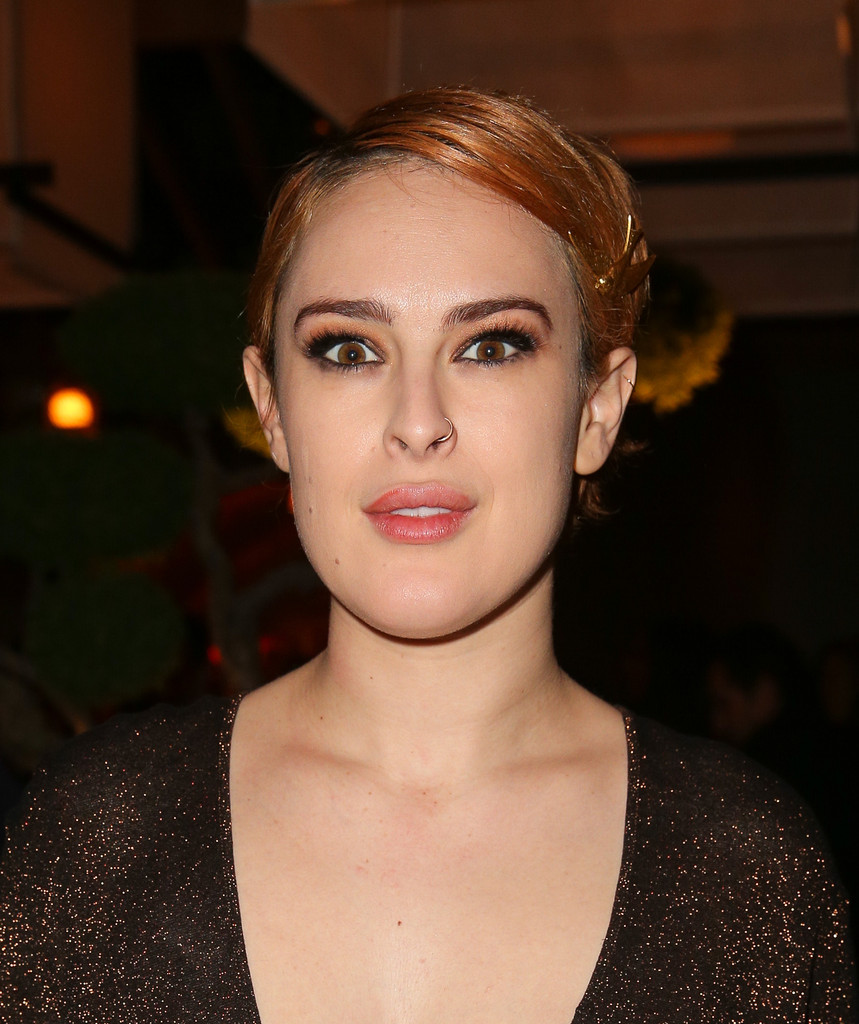 Rumer Willis Side Parted Straight Cut Rumer Willis Hair