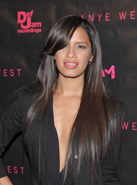 More Pics of Rocsi Long Straight Cut with Bangs (1 of 2) - Rocsi Lookbook - StyleBistro