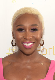Cynthia Erivo attended the Art for Life benefit wearing her hair in bleached curls.