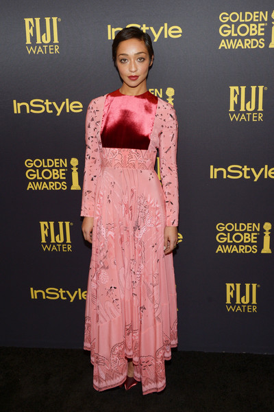 Ruth Negga Print Dress