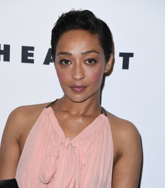 Ruth Negga Short Side Part [photo,hair,face,hairstyle,lip,eyebrow,skin,beauty,chin,shoulder,forehead,louis vuitton,nicolas ghesquiere,ruth negga,angela weiss,lincoln center,alice tully hall,new york city,afp,evening]